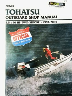 Clymer Tohatsu Outboard Shop Manual 2.5-140HP TWO- STROKE 1992-2000