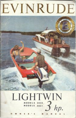 Evinrude Lightwin 3HP Owners manual models 3030 and 3031 free download