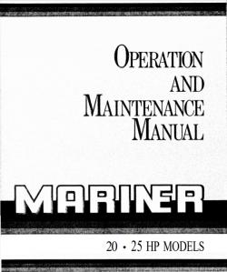 Mariner 20HP 25HP Operation and Maintenance Manual free download
