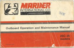 Mariner International Co Outboard Operation and Maintenance Manual 25C-30 models free download