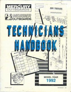 Mariner Mariner Outboard TEchnicians Handbook BR8995 1992 2.5HP to 275HP