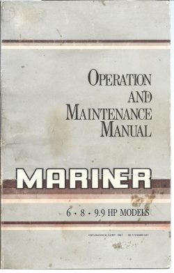 Mariner Outboard Operation and Service Manual for 6HP 8HP 9.9HP models free download
