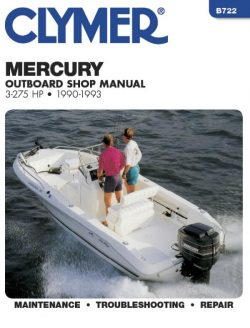 Clymer Mercury Outboard Shop Manual 3 - 275HP for outboards between1990 - 1993 free download
