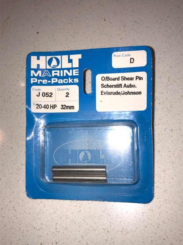 Holt Marine Outboard Shear Pins for EvinrudeJohnson 20-40HP 32mm (Pack of 2)