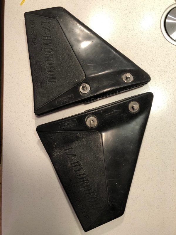 Anti-Cavitation Plates / Hydrofoil Plates for medium sized outboard