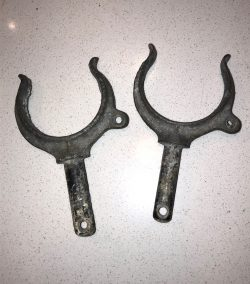 Pair of Galvanised Steel Rowlocks (Vintage)