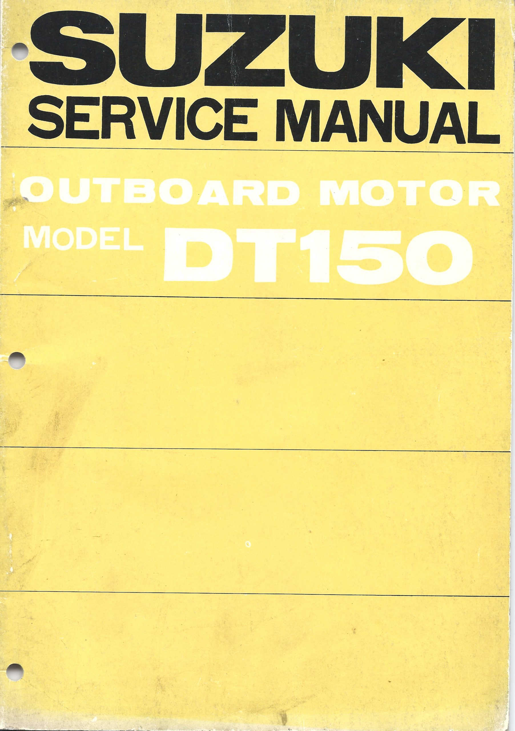 Suzuki Outboard Service Manual Model Dt150 Outboard Manuals Net