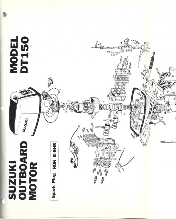 Suzuki Outboard Service Manual Model DT150 Exploded View