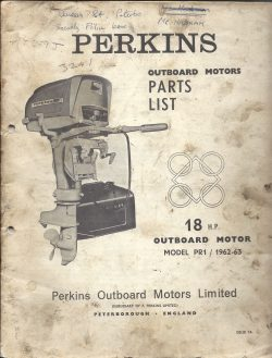 Perkins Outboard Motor Parts List 18HP 1962 1963