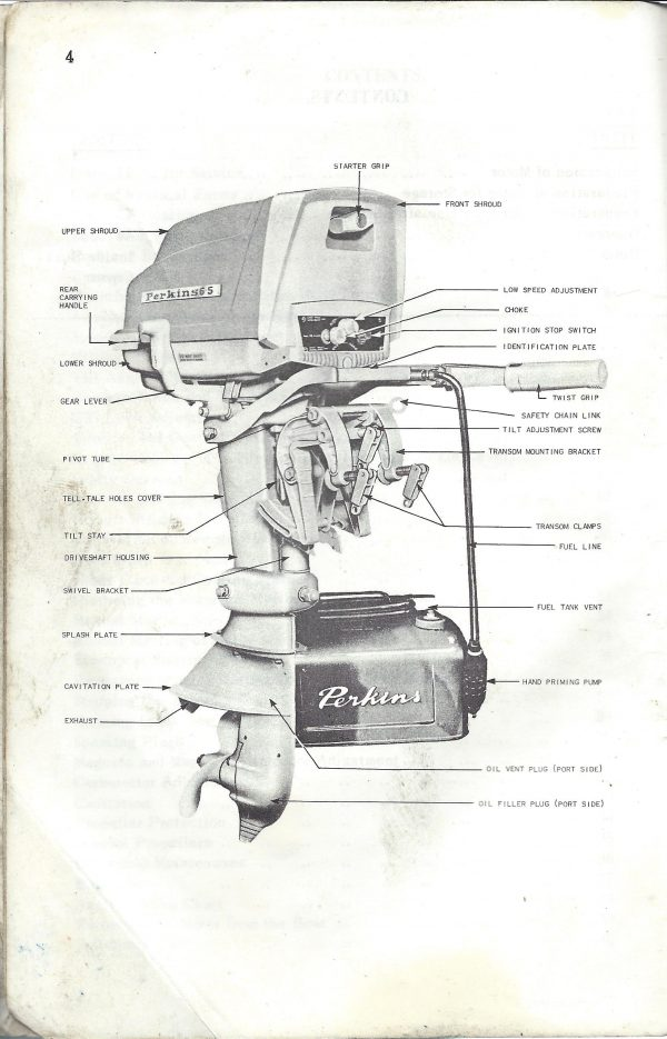 Perkins Owners Guide and Operating Instructions 6.5HP1964