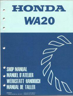 Honda WA20 Waterpump Shop Manual 1977 for Honda G35 Outboard