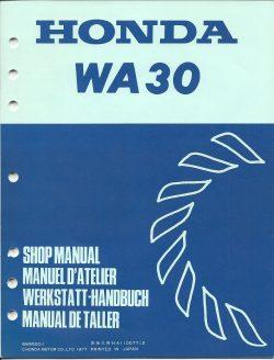 Honda WA30 Waterpump Shop Manual 1977 for Honda G200 Outboard