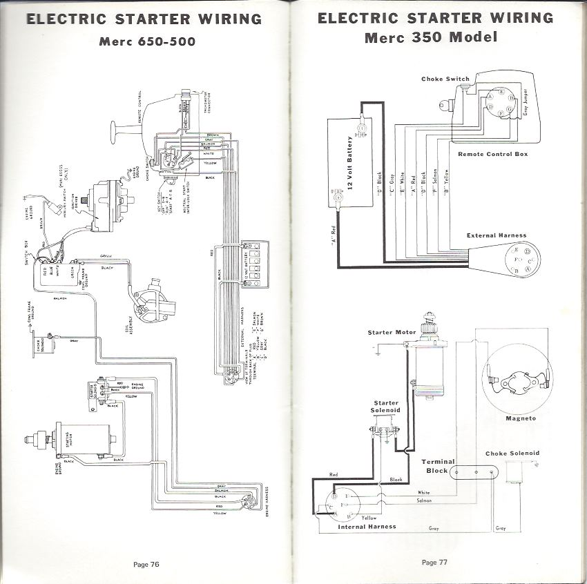 Mercury Outboard Pocket Service Guide, Mercury Marine Outboard Wiring Diagrams
