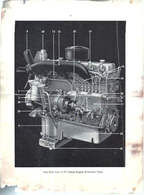 Perkins P4 and P6 marine engines photograph