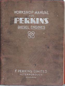 Perkins original workshop manual P4 and P6 marine engines 1954
