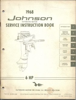 Johnson Outboard Service manual CD25-CDL25 6HP 1968