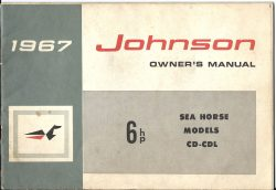 Johnson Sea Horse outboard owners manual CD-CDL 6HP 1967