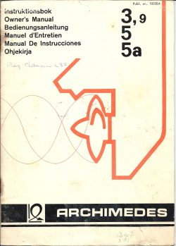 Archimedes Outboard Owners Manual 1977