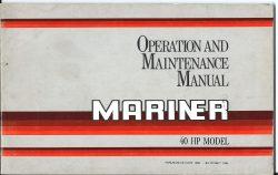 Mariner 40HP Operation and Maintenance Manual 1986
