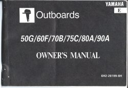 Yamaha Outboard Owners Manual for 50G 60F 70B 75C 80A 90A 1996