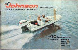 Johnson 1973 Sea-Horse Owners Manual 40HP 40R73