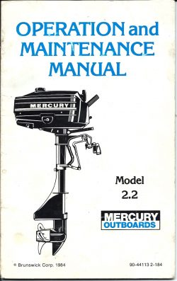 Mercury Outboard 1984 2HP Operation and Maintenance Manual